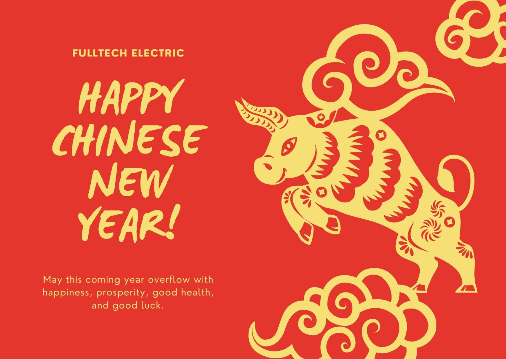 Chinese New Year Holidays (Feb. 10th - Feb. 16th, 2021) - Fulltech Electric